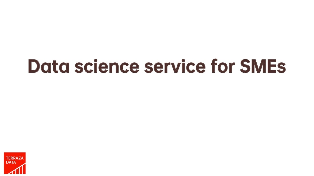 Data science service for SMEs