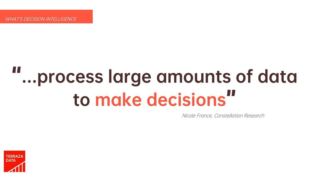 """…process large amounts of data to make decisio..."