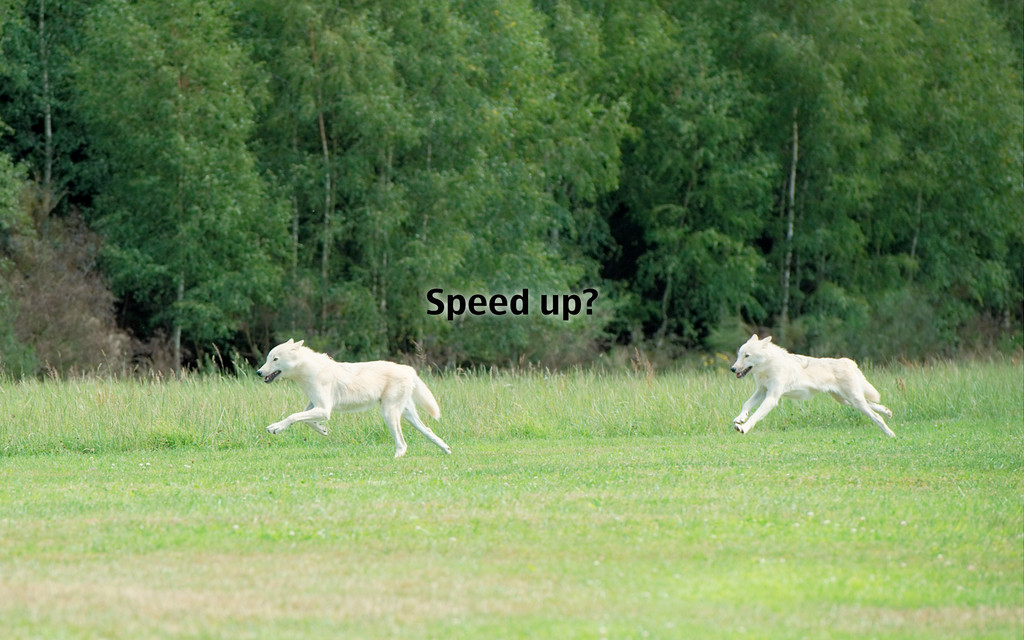 Speed up?