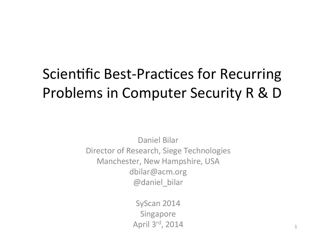 Scien&fic	