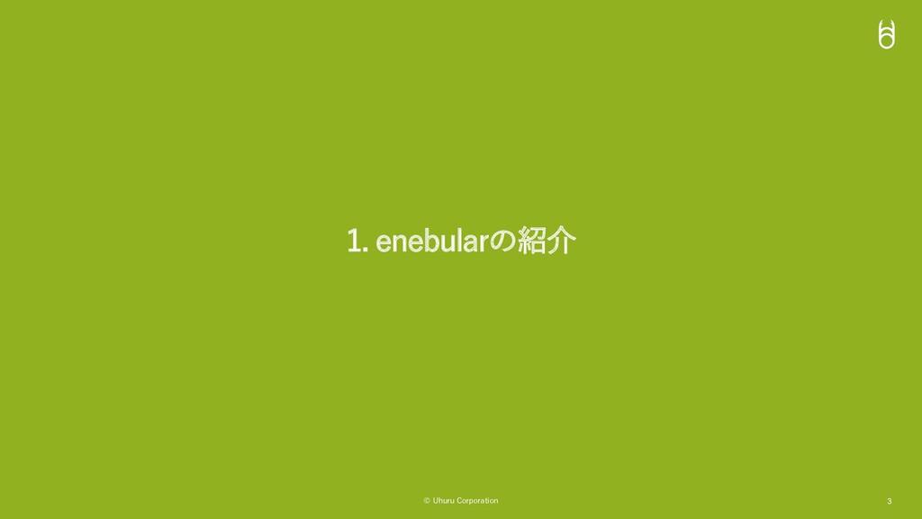 © Uhuru Corporation 3 1. enebularの紹介