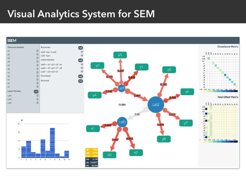 Visual Analytics System for SEM