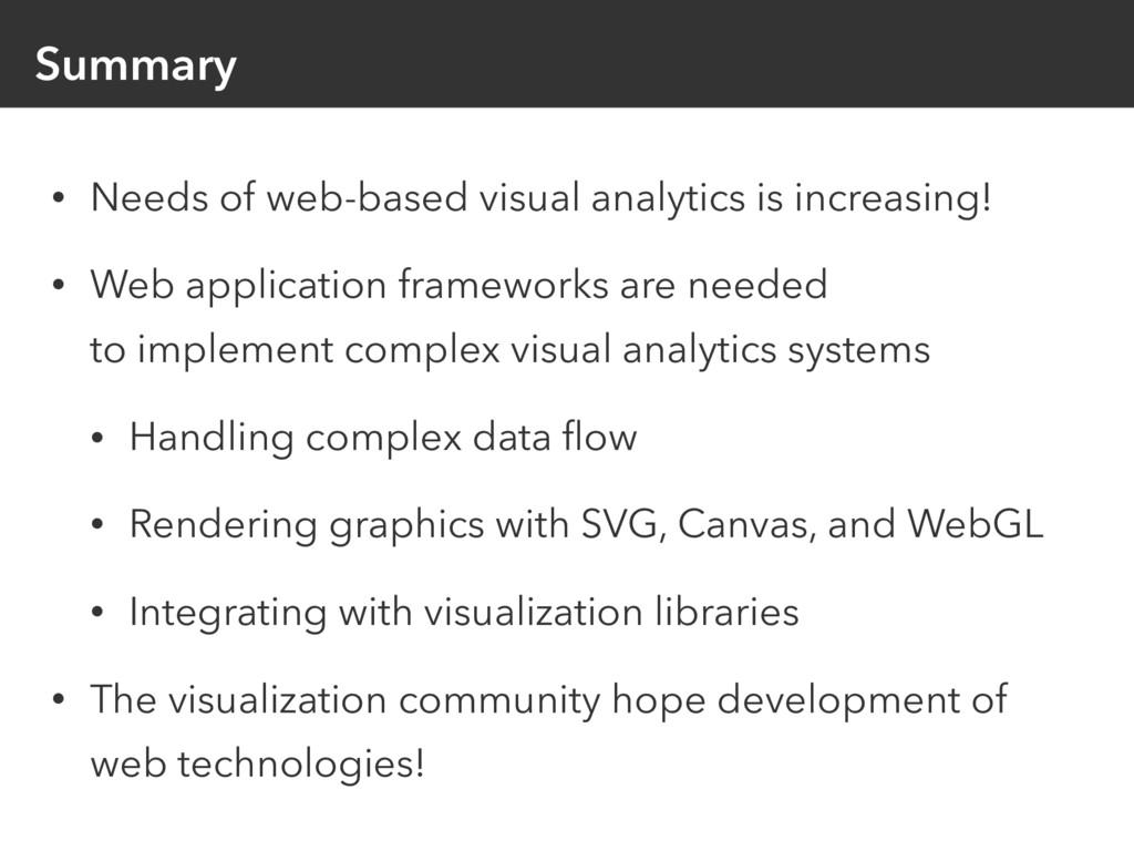 Summary • Needs of web-based visual analytics i...