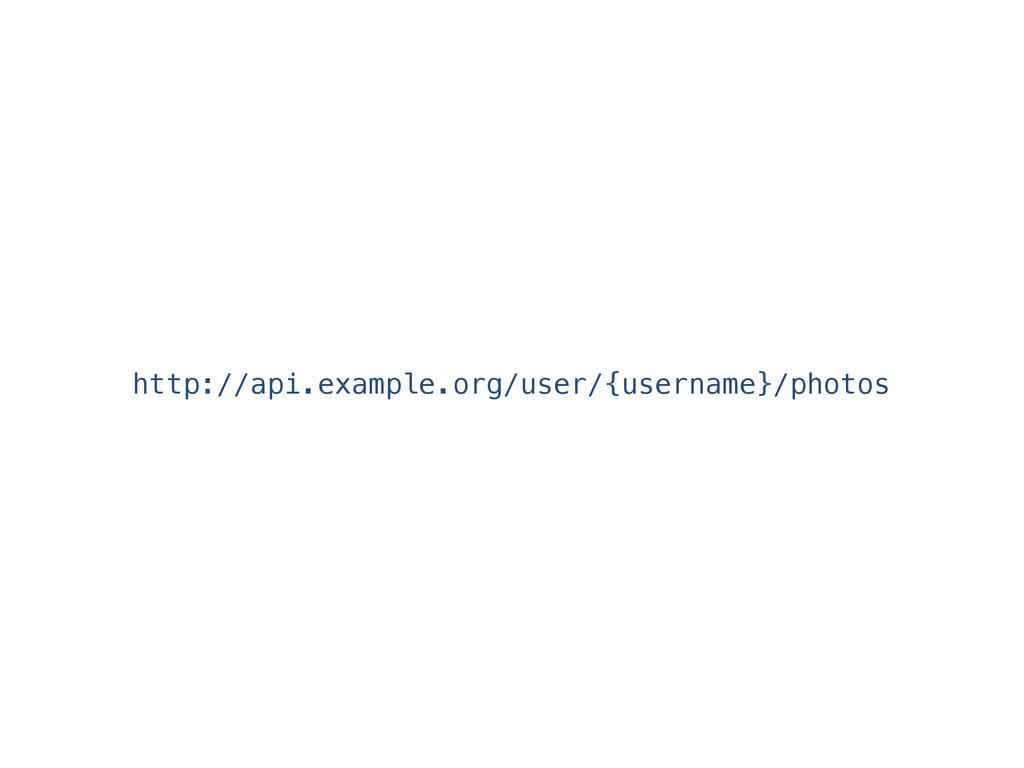 http://api.example.org/user/{username}/photos