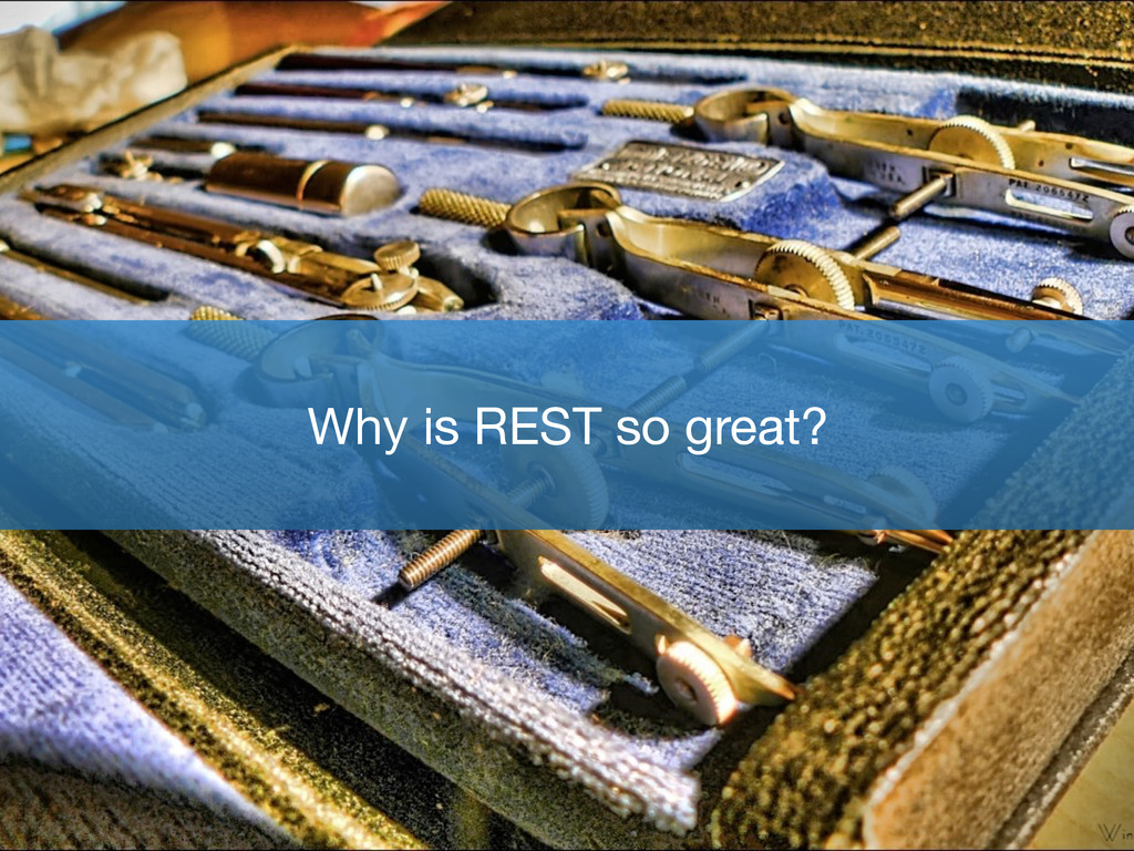 Why is REST so great?