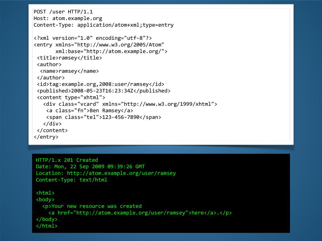 POST /user HTTP/1.1  Host: atom.exa...