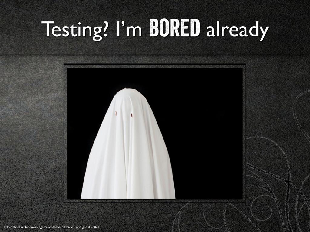 Testing? I'm bored already http://stockarch.com...