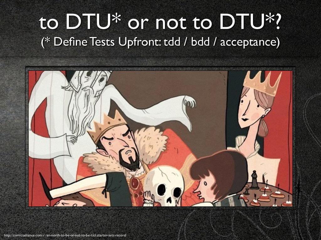 to DTU* or not to DTU*? (* Define Tests Upfront...