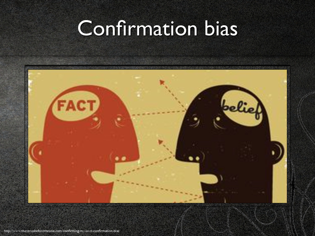 Confirmation bias http://www.thezerosbeforetheon...