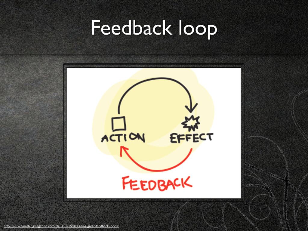 Feedback loop http://www.smashingmagazine.com/2...