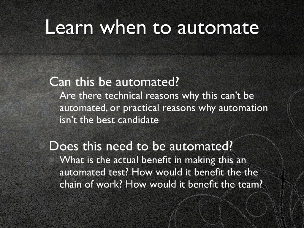 Can this be automated?	 