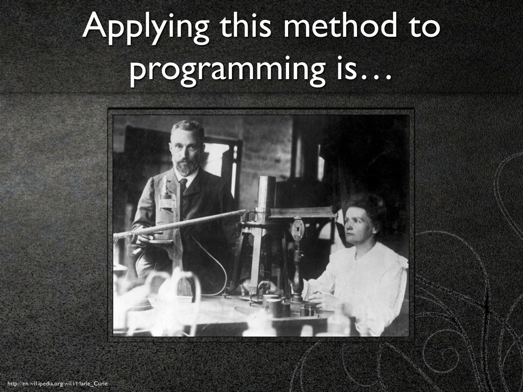 Applying this method to programming is… http://...