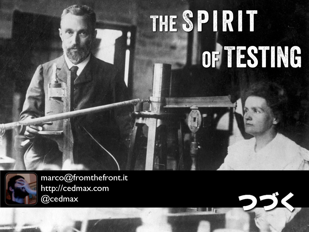 http://en.wikipedia.org/wiki/Marie_Curie The Sp...
