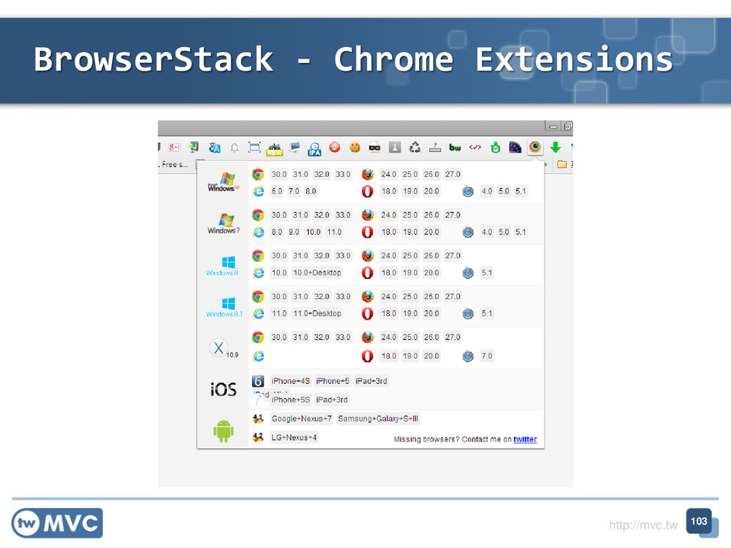 http://mvc.tw BrowserStack - Chrome Extensions ...