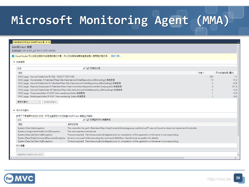 http://mvc.tw Microsoft Monitoring Agent (MMA) ...