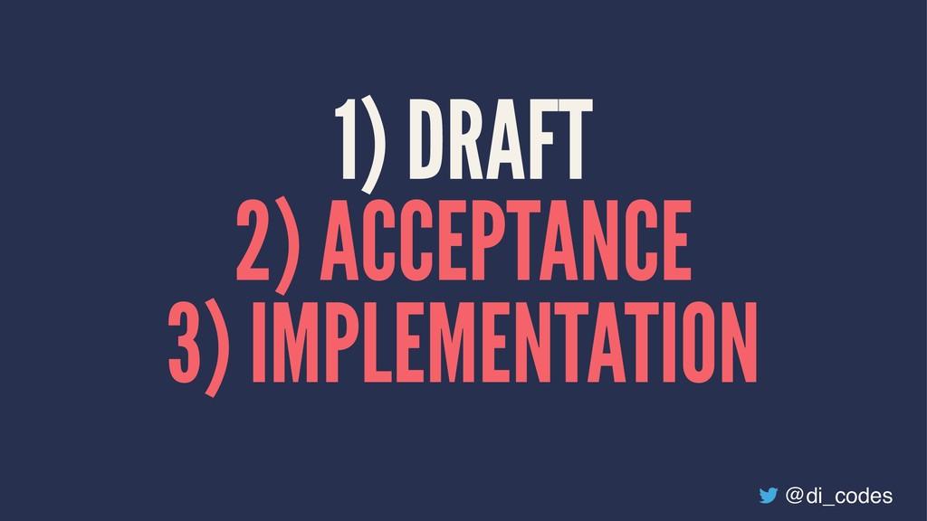 1) DRAFT 2) ACCEPTANCE 3) IMPLEMENTATION @di_co...