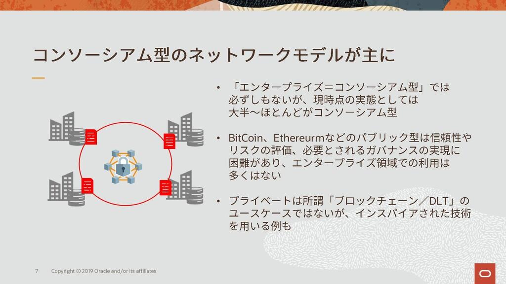 • • BitCoin Ethereurm • DLT Copyright © 2019 Or...