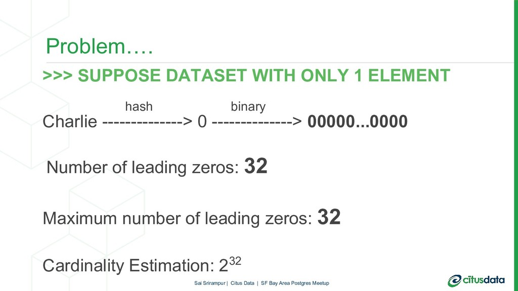 Problem…. >>> SUPPOSE DATASET WITH ONLY 1 ELEME...
