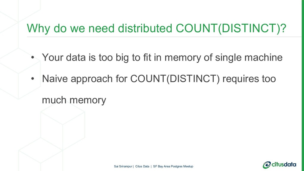 • Your data is too big to fit in memory of sing...
