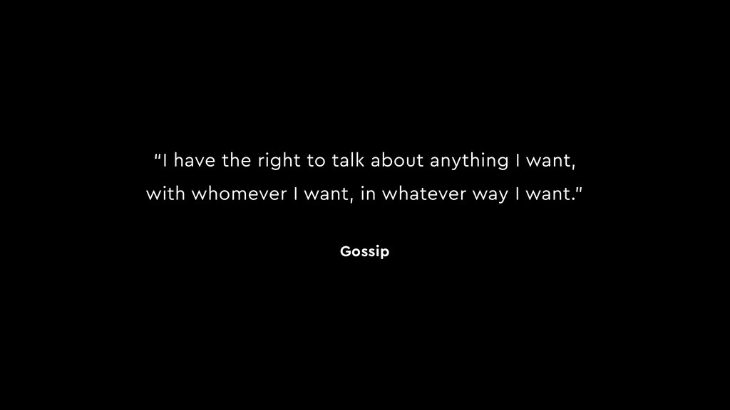 """I have the right to talk about anything I want..."