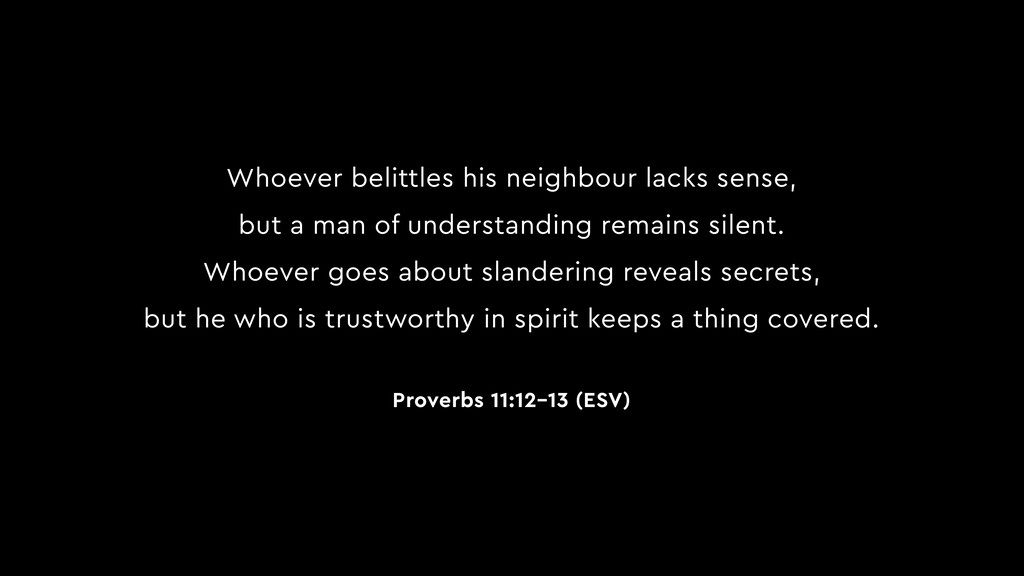 Whoever belittles his neighbour lacks sense, bu...