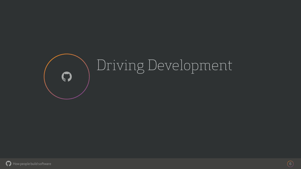 How people build software ! Driving Development...