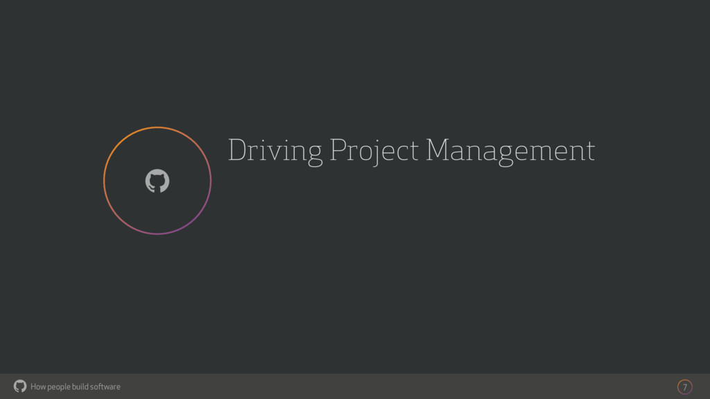 How people build software ! Driving Project Man...
