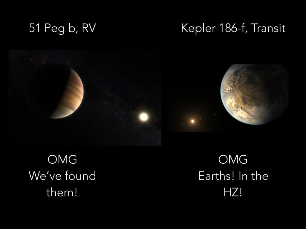51 Peg b, RV Kepler 186-f, Transit OMG  We've ...