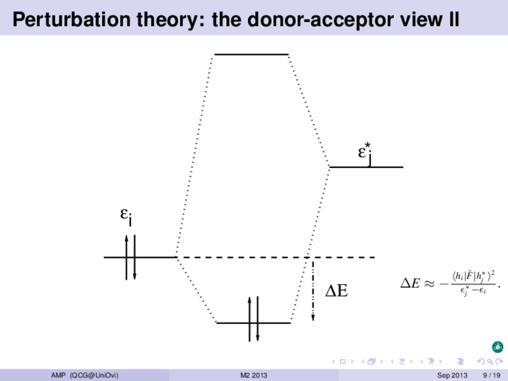 Perturbation theory: the donor-acceptor view II...