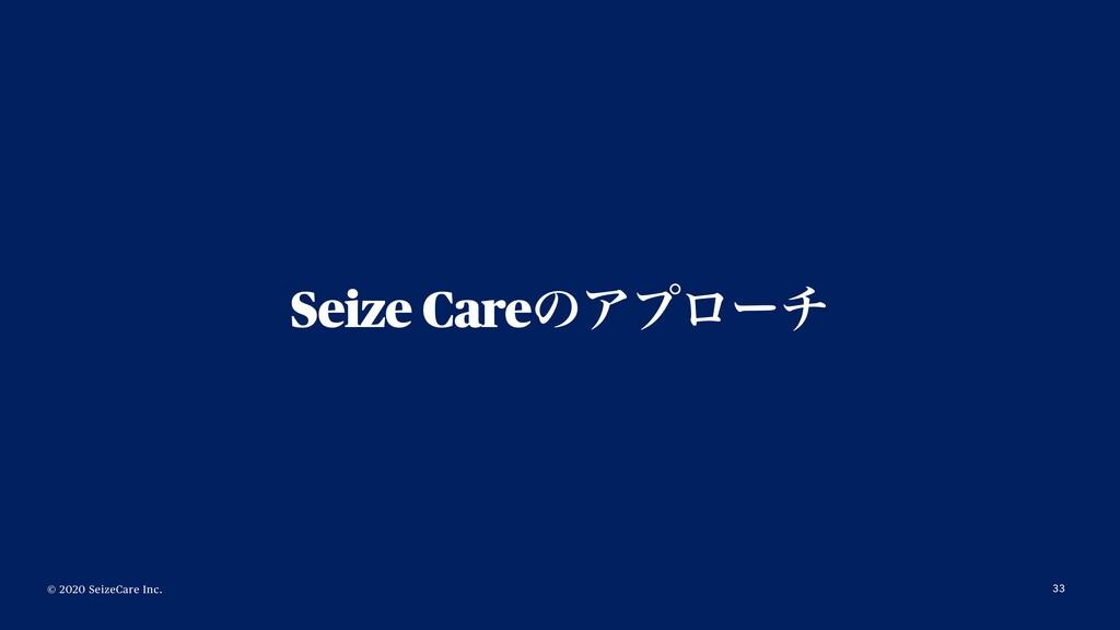 © 2020 SeizeCare Inc. Seize CareͷΞϓϩʔν 33