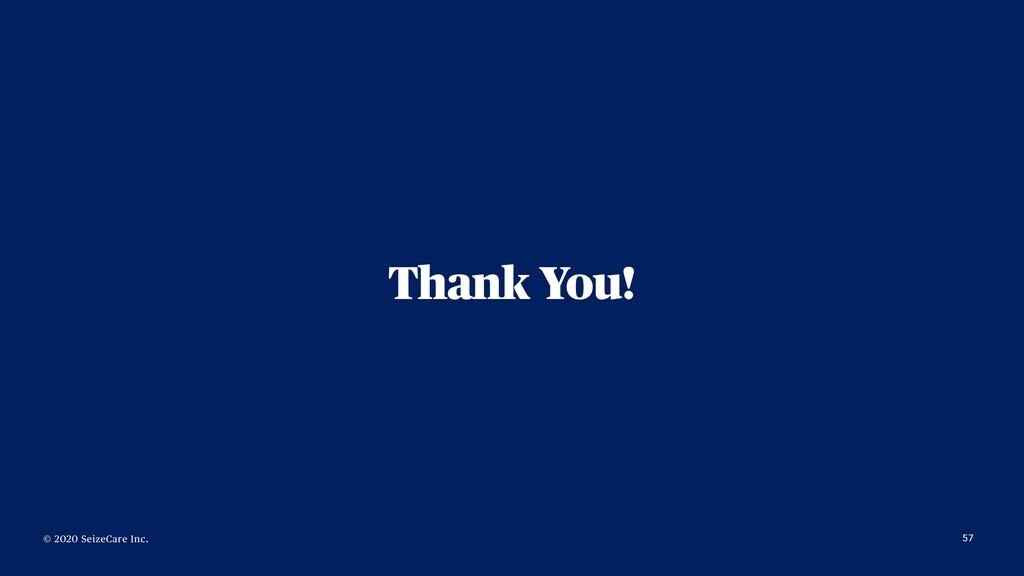 © 2020 SeizeCare Inc. Thank You! 57