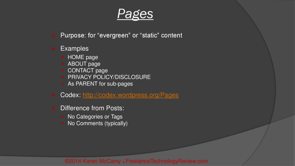 """ Purpose: for """"evergreen"""" or """"static"""" content ..."""