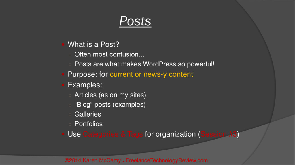  What is a Post? ○ Often most confusion… ○ Pos...