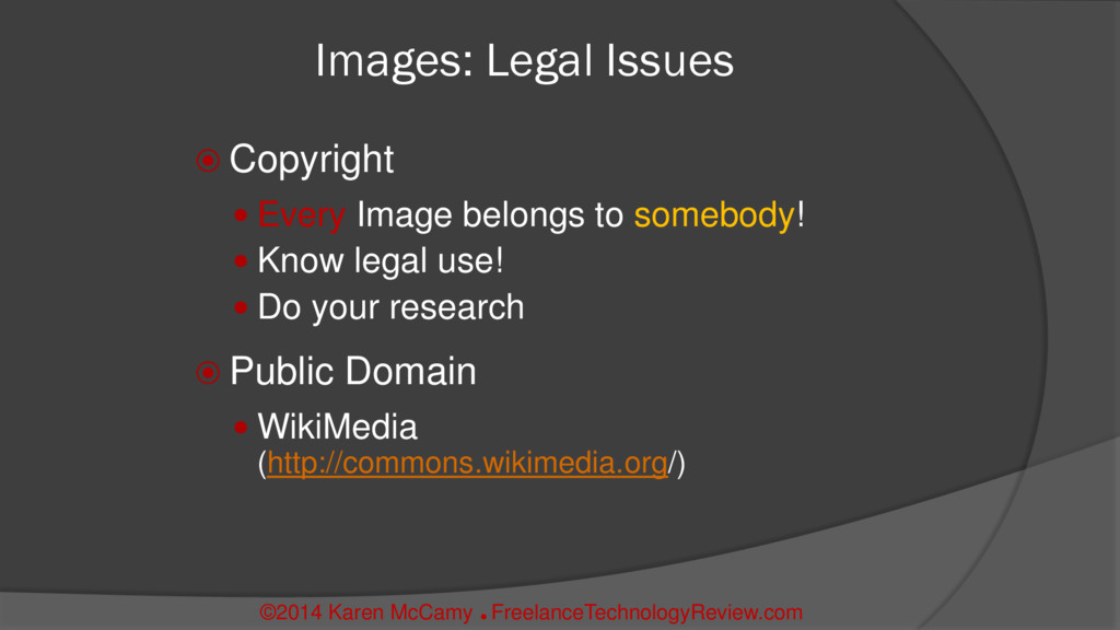 Images: Legal Issues  Copyright  Every Image ...
