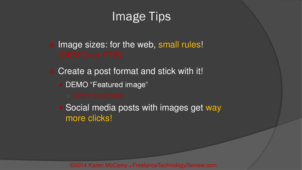 Image Tips  Image sizes: for the web, small ru...