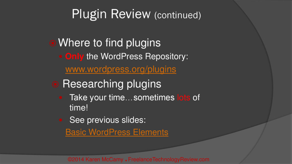  Where to find plugins  Only the WordPress Re...
