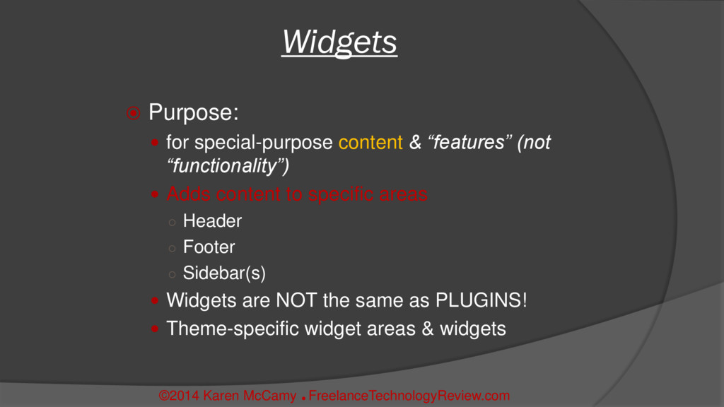 " Purpose:  for special-purpose content & ""fea..."