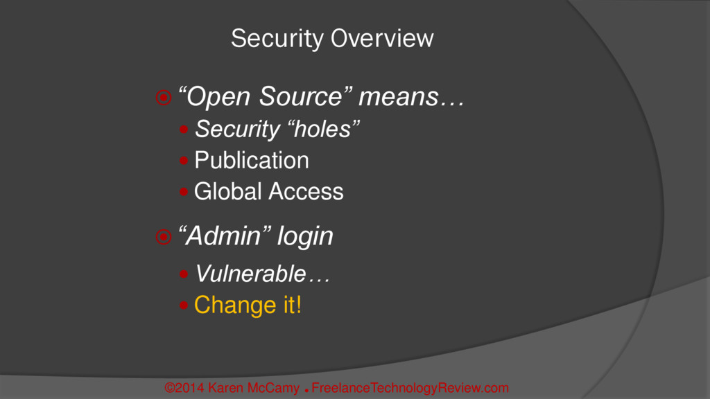 """Security Overview  """"Open Source"""" means…  Secu..."""
