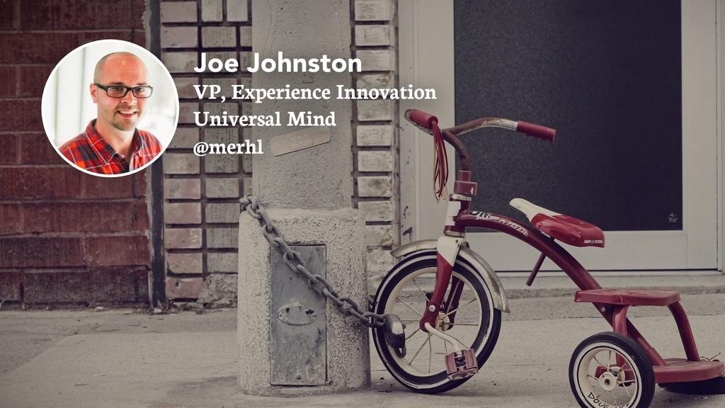 Joe Johnston VP, Experience Innovation @merhl U...