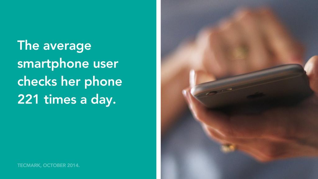 The average smartphone user checks her phone 22...