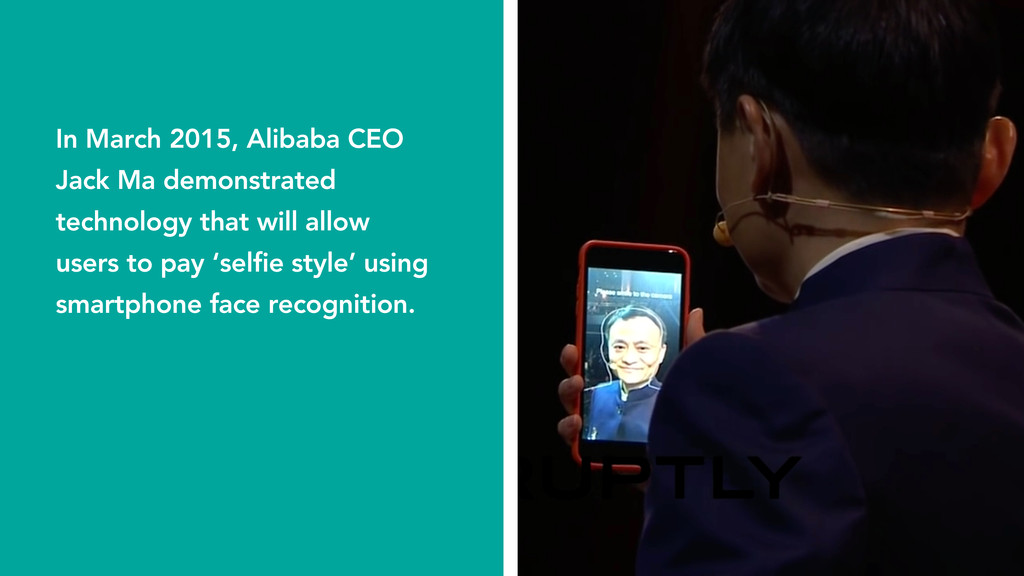 In March 2015, Alibaba CEO Jack Ma demonstrated...