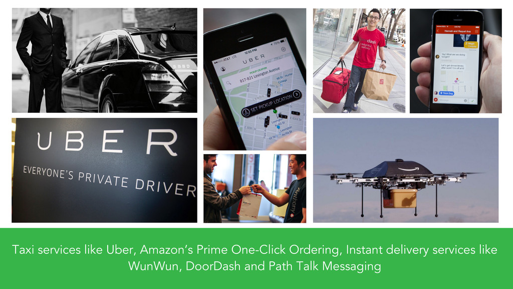 Taxi services like Uber, Amazon's Prime One-Cli...