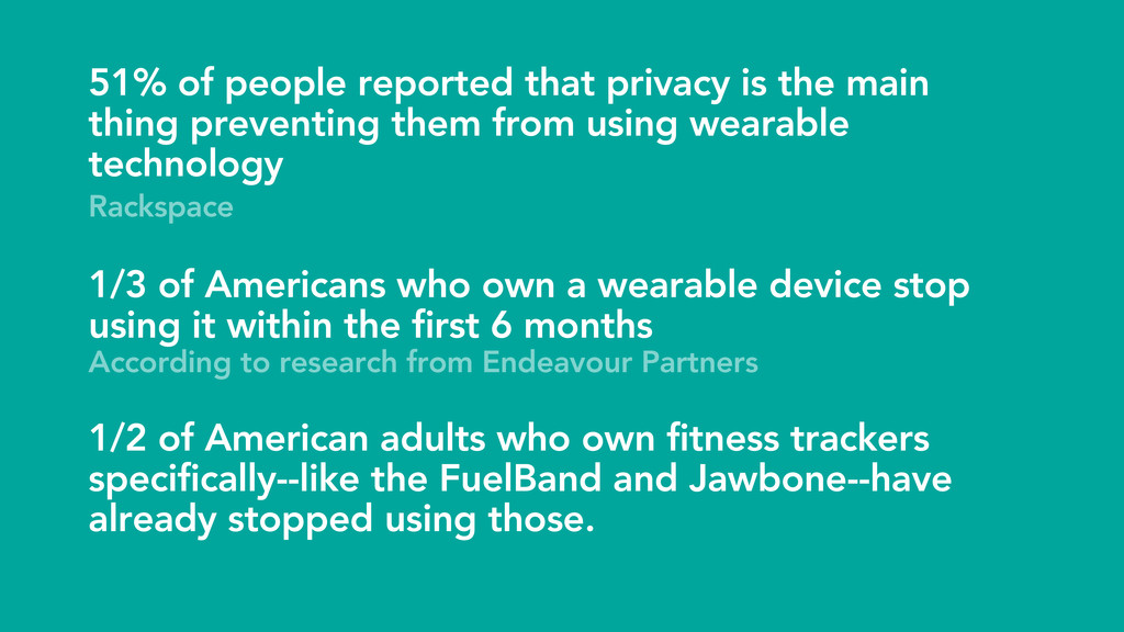 51% of people reported that privacy is the main...