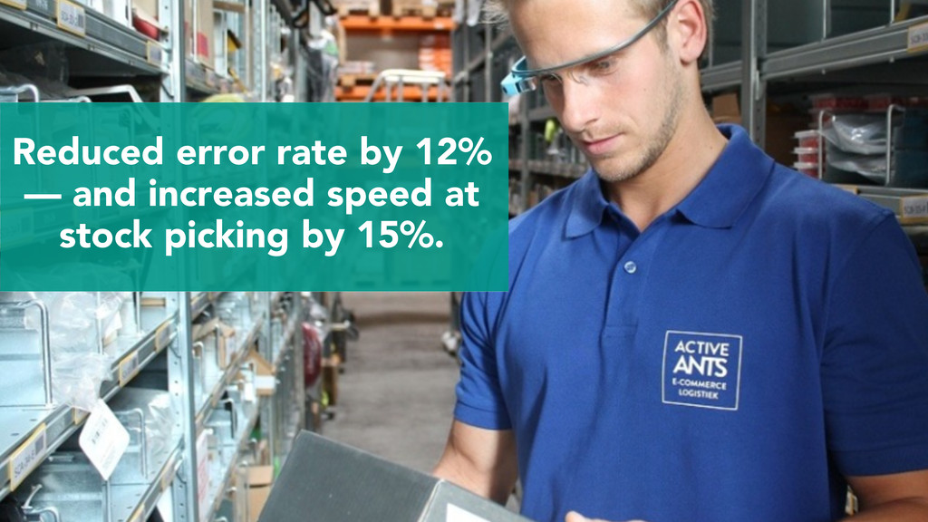 Reduced error rate by 12% — and increased speed...