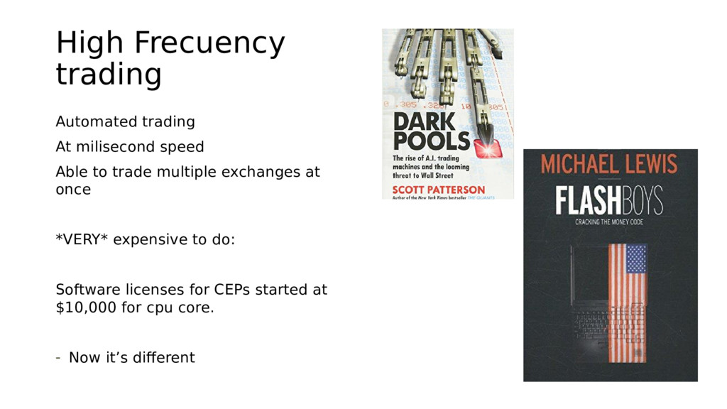 High Frecuency trading Automated trading At mil...