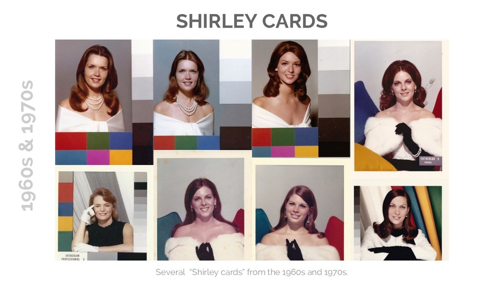 """SHIRLEY CARDS Several """"Shirley cards"""" from the ..."""