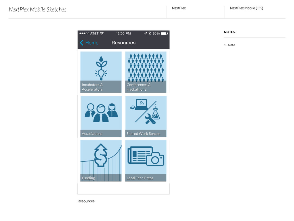 NextPlex Mobile Sketches NextPlex NOTES: NextPl...