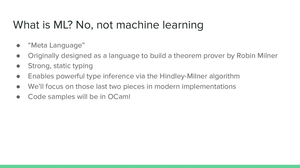"""What is ML? No, not machine learning ● """"Meta La..."""