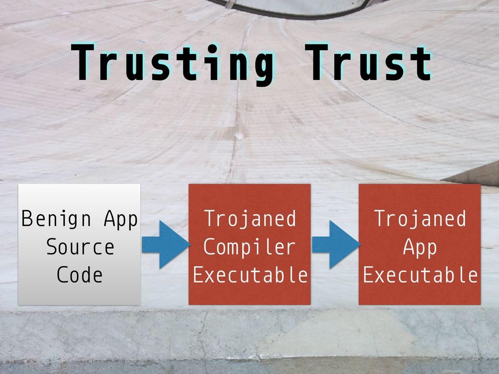 Trusting Trust Trojaned Compiler Executable Ben...