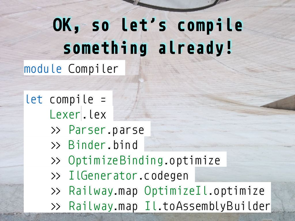 OK, so let's compile something already! module ...